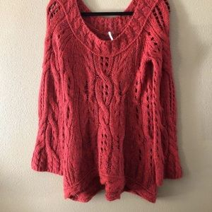 Free People Sweaters - Free People Chunky Bell Sleeve Cable Knit